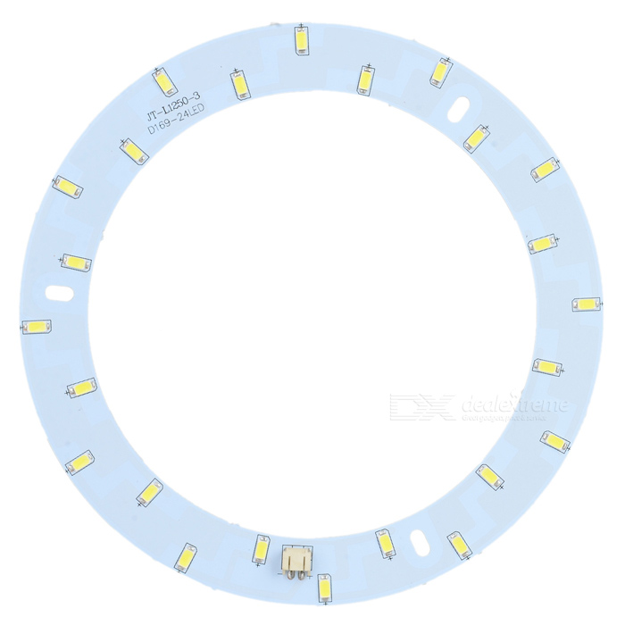 YY-L6946-D 12W 1000lm 24-SMD 5730 LED White Ceiling Light Ring - White (36~43V)