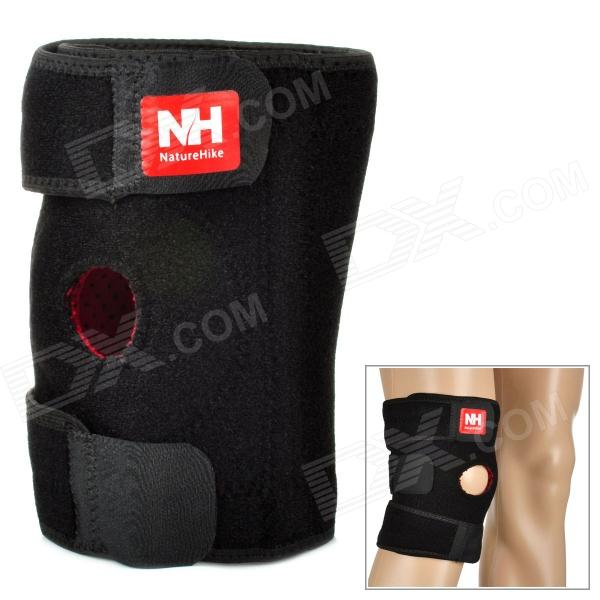 Naturehike-NH Sport Elastic Right Knee Support Pad Protector - Black (Size L) kaiwei 0602 elastic wrist brace support protector black