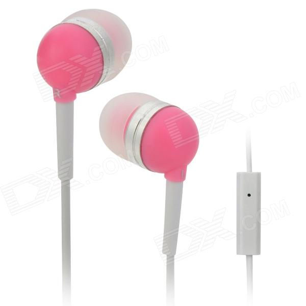 Wallytech WHF-065 In-Ear Earphone for Iphone / Ipad / Ipod / Samsung / HTC - Pink + White