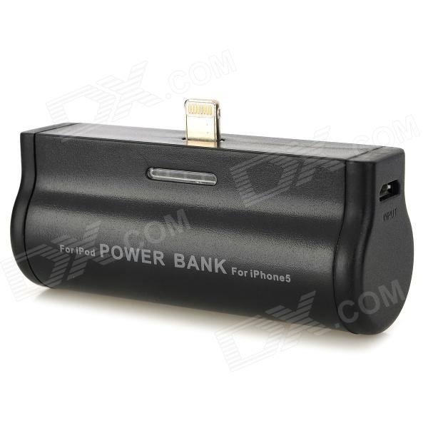 8pin Blitz Tragbare externe Batterieleistung-Bank für iPhone5/iPod Touch 5 - Schwarz