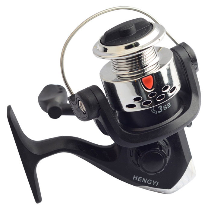 HG1000 3-Axis Aluminium Alloy + ABS Fishing Spinning Reel - Silver + Black