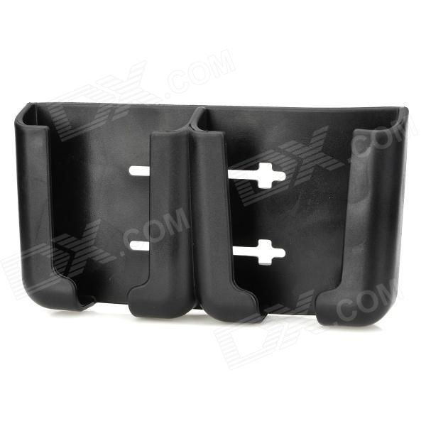 Multipurpose Mobile Phone / GPS Stand Business Card Holder - Black car holder with charger for mobile phone gps mp4 black