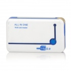 High Speed USB 3.0 TF / M2 / SD / SDHC / MMC / MS / XD / CF Card Reader - White + Blue