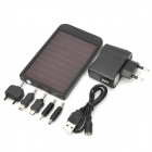 "P2600 Universal ""2600mAh"" Solar Energy Powered Charger - Black"