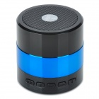 F-30698 Tragbare Mini Bluetooth V3.0 Speaker w / Mikrofon / FM / TF Slot / Mini USB - Schwarz + Blau