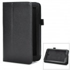 Stylish PU Leather Stand Cover Case for Samsung P3200 - Black
