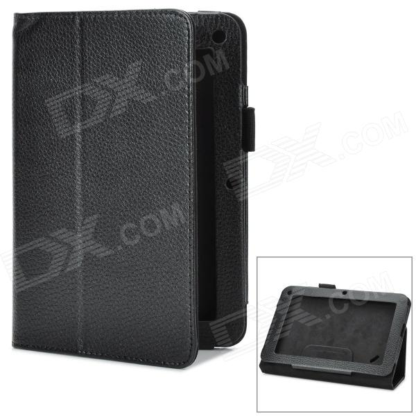 Фото Stylish PU Leather Stand Case for Acer B1-A71 - Black ultra thin slim luxury magnetic folio stand leather case smart sleeve cover for acer iconia one 7 b1 750 b1 750hd a1408