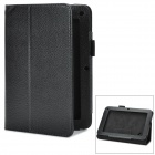 Stylish PU Leather Stand Case for Acer B1-A71 - Black