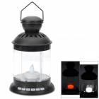 Carriage Lamp Style Portable Multi-Functional Media Player 2.1-Channel Speaker w/ TF / AUX - Black