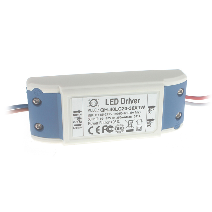 GKDY14 External 18~36W x LED Bulb Power Supply Driver - White + Blue (AC 85~277V) led driver ac input 220v to dc 1800w 0 60v 30a adjustable output switching power supply transformer for led strip light