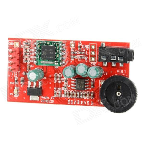 TEA5767 FM Radio Module for Electronic DIY - Red + Black