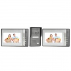802MF12 7'' TFT Screen Night Vision Video Door Phone Doorbell w/ Waterproof Camera - Grey + Silver