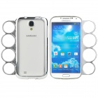 Stylish Protective Plastic Bumper Frame Case w/ Ring Handle for Samsung Galaxy S4 i9500 - Silver