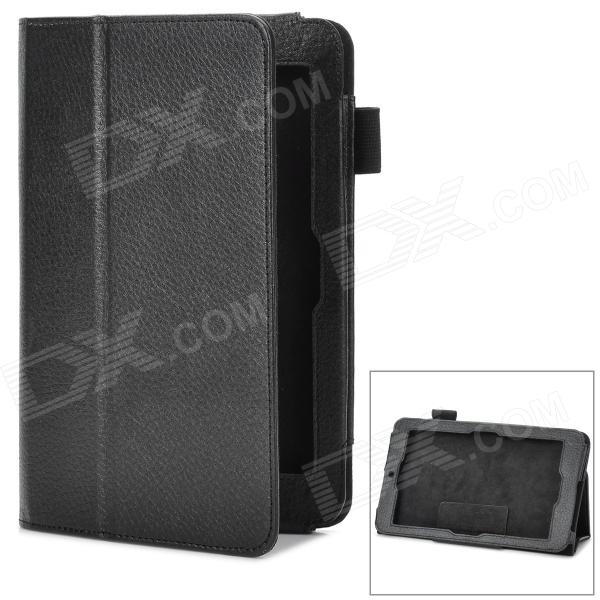 Stylish PU Leather Stand Cover Case for Asus ME172V - Black