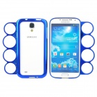 Stylish Protective Plastic Bumper Frame Case w/ Ring Handle for Samsung Galaxy S4 i9500 - Blue