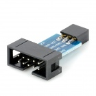 10 Pin to 6 Pin Adapter Board for AVRISP USBASP STK500 - Black + Blue