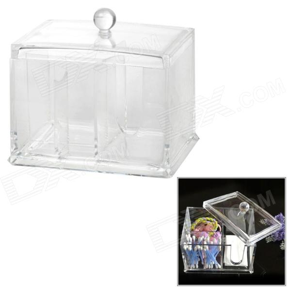 Acrylic Plastic Make-up / Cosmetic Cotton Stick / Jewelry Storage Box - Transparent Glendale товары вещи