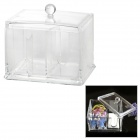 Acrylic Plastic Make-up / Cosmetic Cotton Stick / Jewelry Storage Box - Transparent
