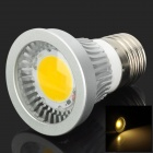 SENCART E27 3W 3500K 190lm COB LED Warm White Light Spotlight - Silver (95~265V)