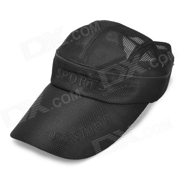 Men's Outdoor Sun Protective Travel Mesh Cap Hat - Black