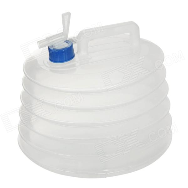 Lan Land Outdoor Folding PE Water Barrel - Translucent White (10L)