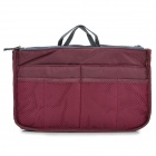 Dual Zipper Handbag  Storage Bag - Claret