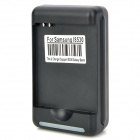 YIBOYUAN Universal 2-flat-pin Pug Li-ion Battery Charger w/ Female USB Output for Samsung - Black
