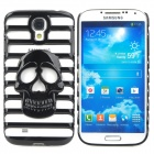 Stylish Skull Pattern Hollowed Plastic Protective Back Case for Samsung Galaxy S4 i9500 - Black