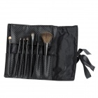 MEGAGA 275 7-in-1 Professional Cosmetic Makeup Brushes w/ Carrying Bag - Black