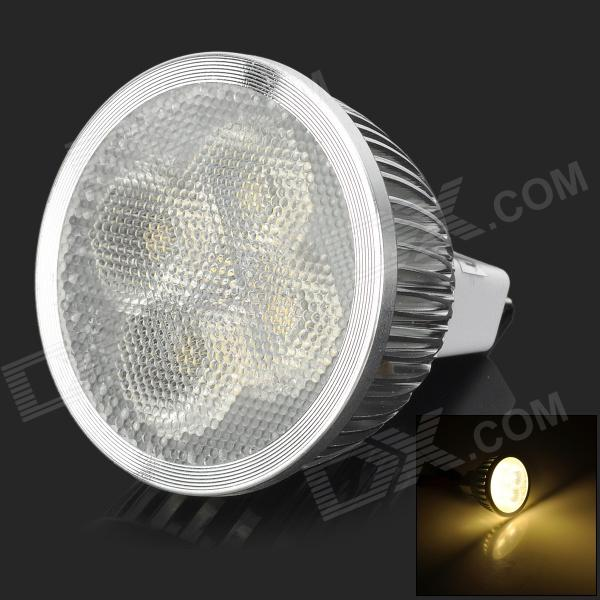 UltraFire GX5.3 MR16 4W 280lm 3200K 4-LED Warm White Spotlight - Silver + White