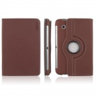 ENKAY ENK-7010 Cowboy Pattern Protective PU Leather Case for Samsung Galaxy P3100 / P3110 - Brown