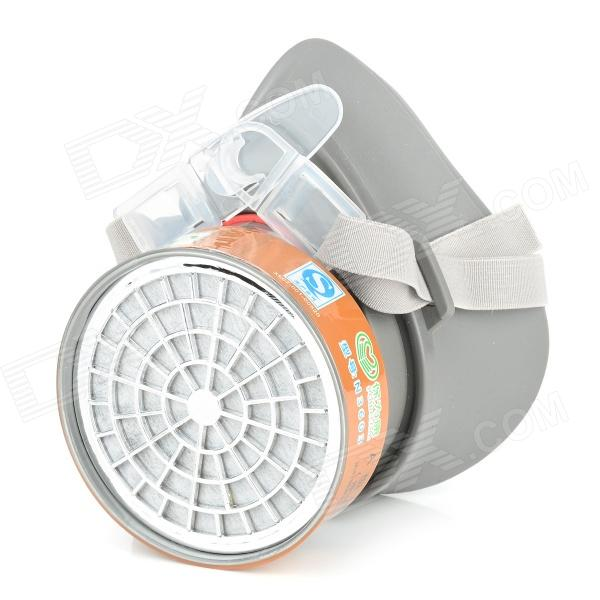 N3600 360 Degree Anti-Dust Single Chemical Gas Respirator Mask - Grey arthouse w15052865053