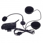 DK118 Water Resistant Multi-Interphone 4-Rider Motorcycle Helmet Wireless Bluetooth Earphone - Black