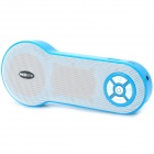 H3 Portable Rechargeable Media Player Speaker w/ TF / FM / AUX - Blue + White