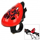 Helmet Style Aluminum Alloy + Plastic Bicycle Bell - Red + Black