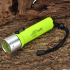 Radar 8011 Cree XP-E Q3 6500K 100LM 1-LED White Light Diving Flashlight - Yellow (4 x AA)