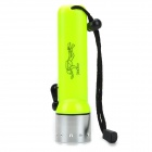 Radar 8011 6500K 100lm 1-LED White Diving Flashlight w/ Cree XP-E Q3 - Yellow (4 x AA)