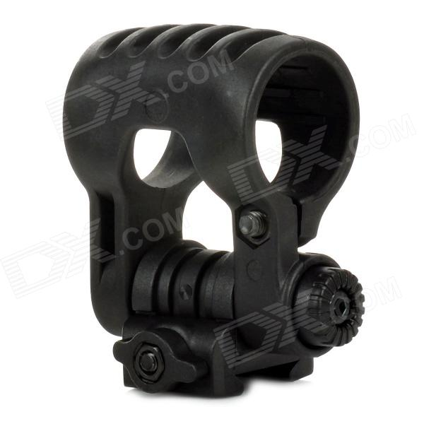 EX 340 Adjustable Tactical Flashlight Mount Holder for 21mm Rail Guns - Black