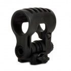 Adjustable Tactical Flashlight Mount Holder for 21mm Rail Guns - Black
