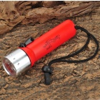 Radar 8011 Cree XP-E Q3 6500K 100LM 1-LED White Light Diving Flashlight - Red (4 x AA)