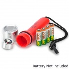 Radar 8011 6500K 100LM 1-LED White Light Diving Flashlight w/ Cree XP-E Q3 - Red (4 x AA)