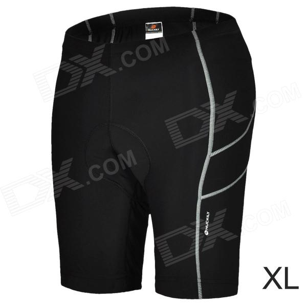 NUCKILY NS351 Outdoor Sport Quick-drying Cycling Lycra Short Pants for Men - Black (Size XL)