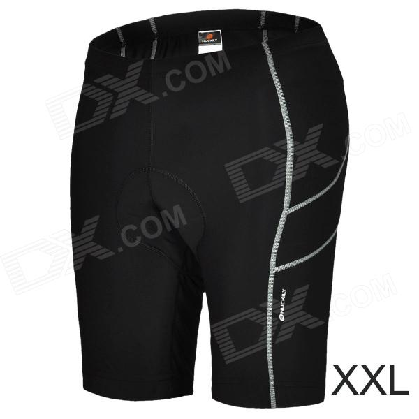 NUCKILY NS351 Outdoor Sport Quick-drying Cycling Lycra Short Pants for Men - Black (Size XXL) outdoor sport pants stitching breathable quick drying pants cycling hiking camping fishing running jogging luminous sports pants