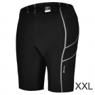 NUCKILY NS351 Outdoor Sport Quick-drying Cycling Lycra Short Pants for Men - Black (Size XXL)