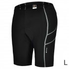 NUCKILY NS351 Outdoor Sport Quick-drying Cycling Lycra Short Pants for Men - Black (Size L)