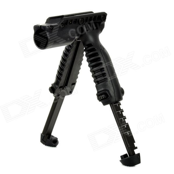 Tactical Quick Release Folding Hand Grip for 20mm Gun Rail - Black aimtis sf x400 ultra night evolution pistol light with red laser tactical weapon flashlight fit 20mm picatinny weaver rail