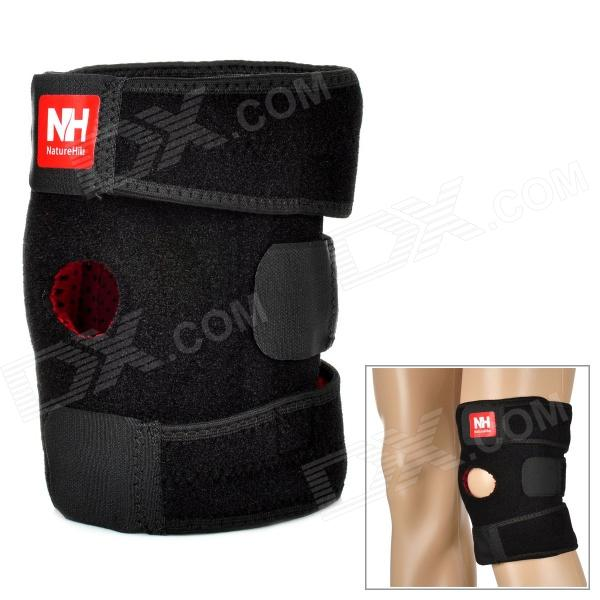 Naturehike-NH Outdoor Sport Elastic Left Knee Support Pad Protector - Black + Red (Size M)