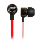 SOMiC MH403i In-Ear-Earphones w/ Microphone for Iphone / HTC / Samsung - Coffee + Red (3.5mm Plug)