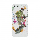Colorfilm 3D Skateboard Boy Painting Emboss Protective Plastic Back Case for Iphone 5 - Multicolored