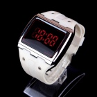LUWEITE 5088A 8066 Fashionable Touch LED Screen Digital Wrist Watch - White (1 x CR2032)